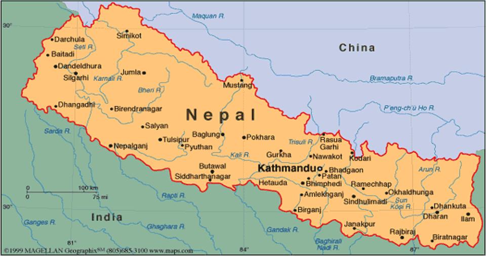 2 Bild 1 Karta Nepal